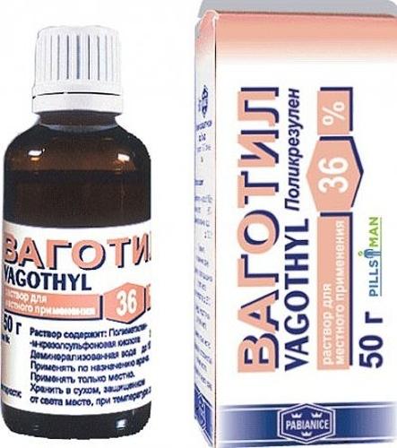 Консервативное лечение эрозии шейки матки препаратом «Ваготил»